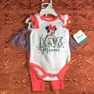 Minnie Mouse 3-6 Months Outfit Disney Baby